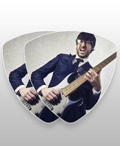 bass plectrums dubbelzijdig bedrukt