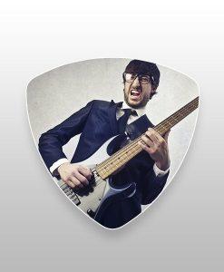 bass plectrums enkelzijdig bedrukt