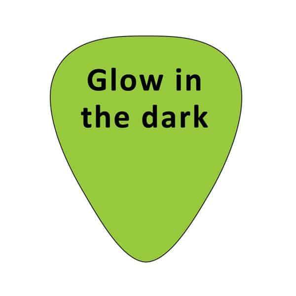 Glow in the dark plectrums met bedrukking