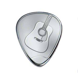 Zilveren plectrums met gitaar - Graveren
