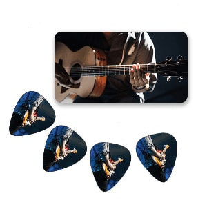 Plectrums in blik - Custom