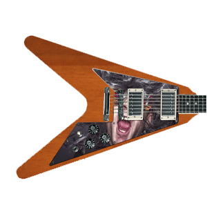 Custom slagplaat - Flying V