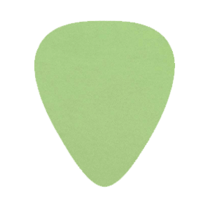 Custom Delrin Plectrum - Groen