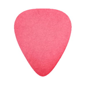 Custom Delrin Plectrums - Rood
