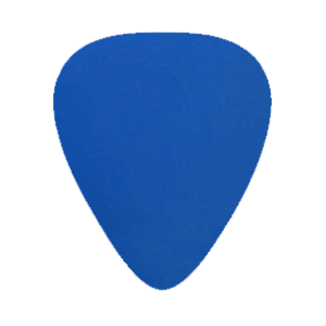 Custom Nylon Plectrums - Blauw