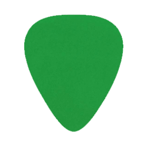Custom Nylon Plectrums - Groen