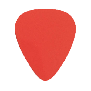 Custom Nylon Plectrums - Rood