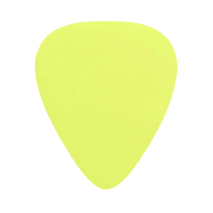 Custom Nylon Plectrums - Geel