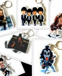 music_stars_shaped_keychains