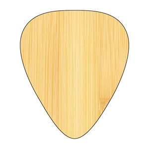 Custom Houten Plectrum - Maple