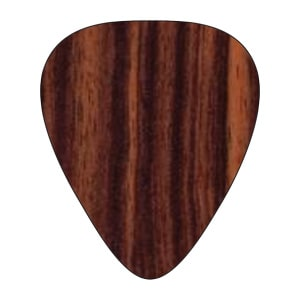 Custom Houten Plectrum - Ebony