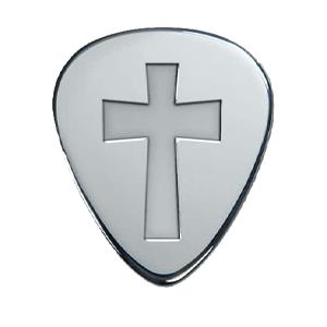 Zilveren Plectrum - Kruis