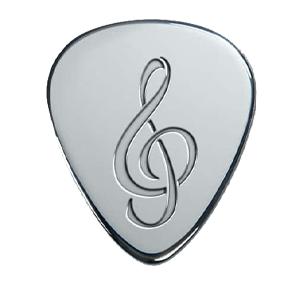Zilveren Plectrum - Muzieknoot